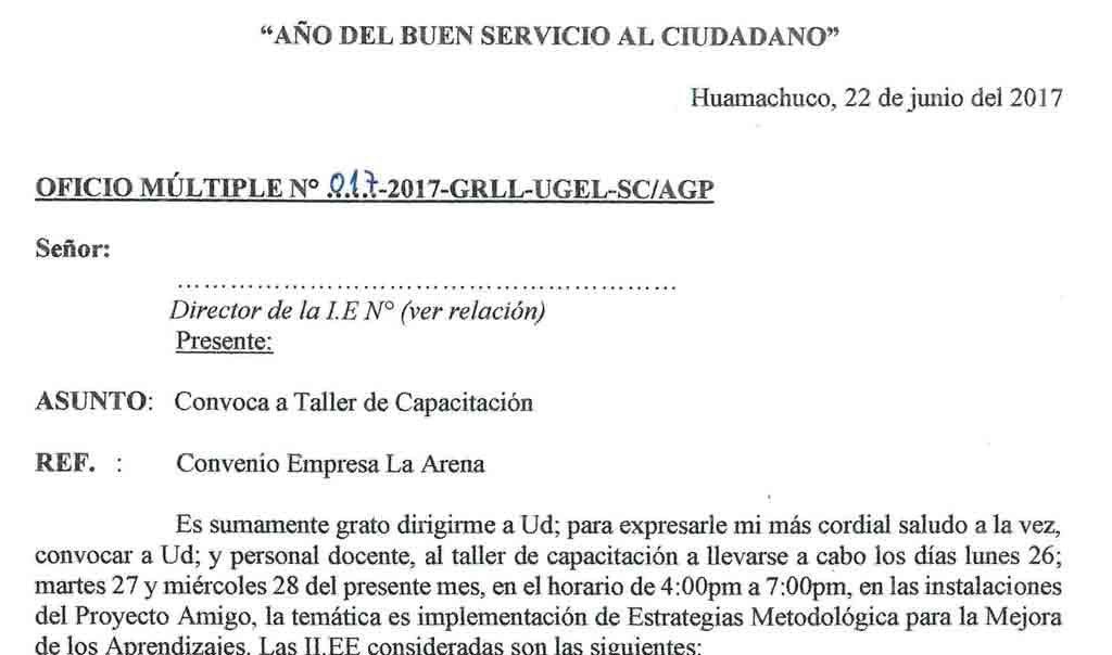 TALLER DE CAPACITACIÓN PARA II.EE. MENCIONADAS 26…
