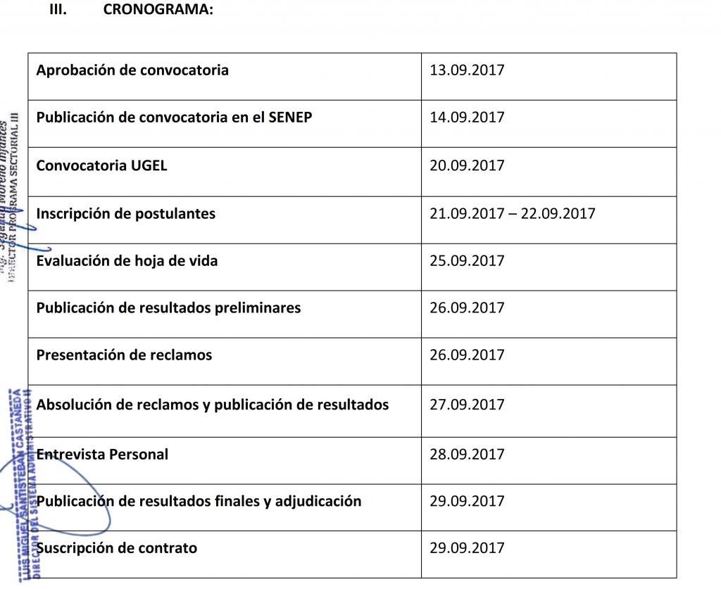 CONVOCATORIA CAS N° 010-2017 UE 0307 UGEL SÁNCHEZ…
