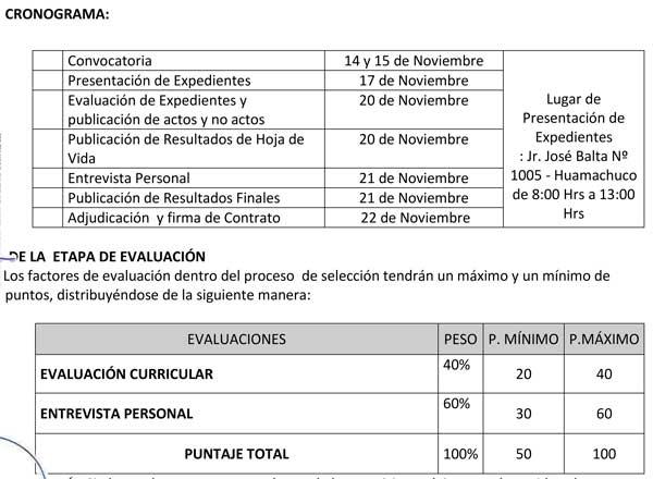 ONVOCATORIA CAS N° 013-2017 UE 0307 UGEL SÁNCHEZ C…