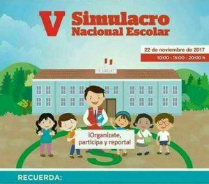 V Simulacro Nacional Escolar de SISMO