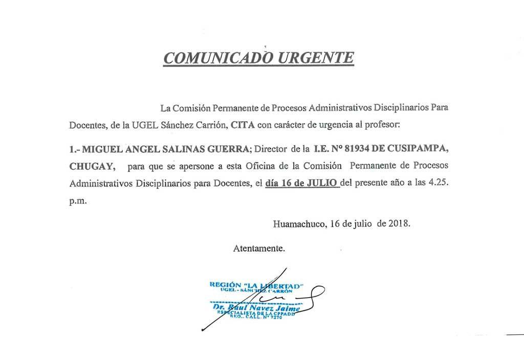 La Comisión Permanente de Procesos Administrativos…