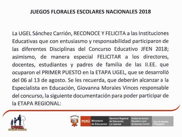 RESULTADOS JUEGOS FLORALES ESCOLARES NACIONALES 20…