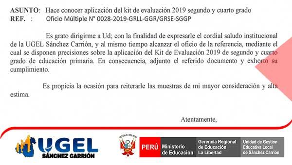Hace conocer aplicación del kit de evaluación 2019…