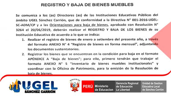 REGISTRO Y BAJA DE BIENES MUEBLES comunicado N° 4-…