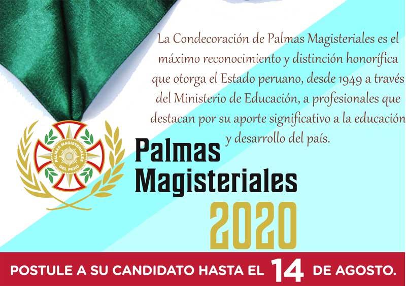 PALMAS MAGISTERIALES 2020 Reconociendo a los profe…