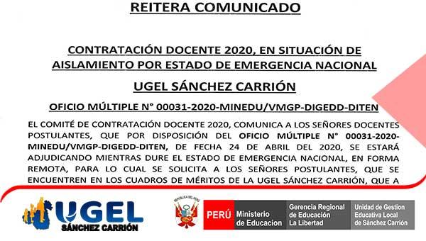 REITERA COMUNICADO FICHA DE RECOLECCIÓN DE DATOS P…