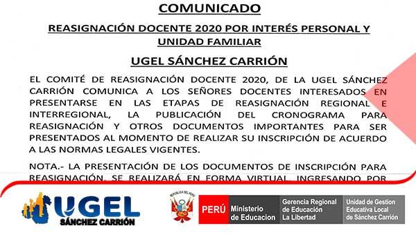 Proceso de reasignación docente 2020 por interés p…