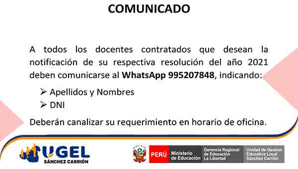 Notificación de resolución 2021